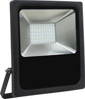 Led bouwlamp 50 watt warm licht zwarte behuizing