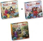 Ticket to Ride - Ultieme Uitbreidingsset - Map Collection - World 3 stuks