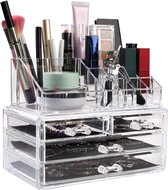 Deluxa Make-Up Organizer - Transparant - 20 Compartimenten