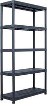 vidaXL Opbergrek 250 kg 80x40x180 cm kunststof zwart