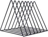 QUVIO Post- en boekenrek staal driehoek / Post, tijdschriften, boeken opbergen / Post organizer - Zwart