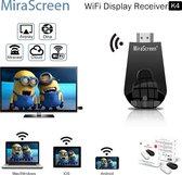 TV Stick 1080P Draadloos WiFi Display TV Dongle-ontvanger voor Airplay HDMI DLNA Miracast-smartphone   Zwart