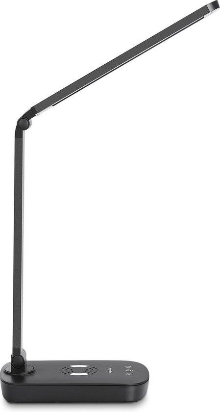 Aigostar Owen LED bureaulamp Qi draadloos opladen Tafellamp Zwart