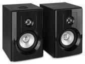 Bluetooth speakerset - Vonyx SHF404B actieve stereo speakerset met Bluetooth en mp3 speler - Zwart