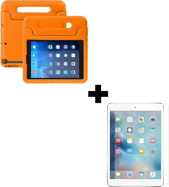 BTH iPad Mini 5 Kinderhoes Kidscase Hoesje Met Screenprotector Oranje