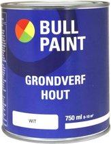 Bullpaint grondverf hout wit - 750 ml.