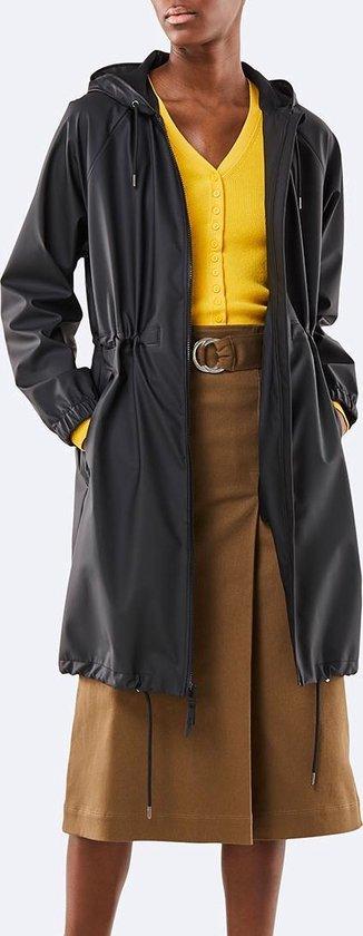 Rains Long W Jacket 1278 Jas - 01 Black