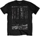 Biffy Clyro Heren Tshirt -M- Tree Zwart