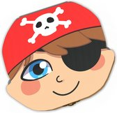 Tandendoosje Jongens van Hout – Tanden Doosje - Tandenbewaardoosje – Tanden opbergdoosje voor Melk Tanden – Sprookje – Piraat Jongen