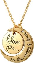 I love you bedel ketting | BFF | to the moon and back | valentijn