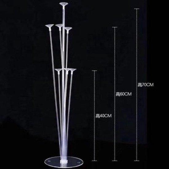 Lampion-Lampionnen LED Ballon XL Ballon standaard 7 armig - 70 cm hoog