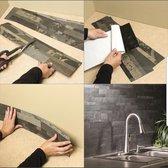Natuursteen zelfklevende platen Black,  3D wandpanelen, kunst steenstrips, wandbekleding, steenstrips voor binnen, 3D wanden, muurdecoratie, brickstone gevelbekleding, wandtegels, muurtegels