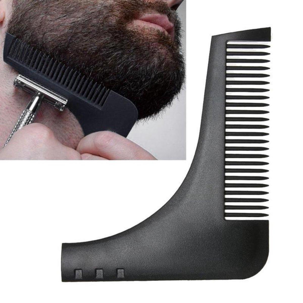 EPIN   Baard kam   Baard verzorging   Baard trimmer   Baard scheren  Baard borstel   Zwart