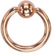 ball closere ring rose gold plated ring 1mm x 10 mm