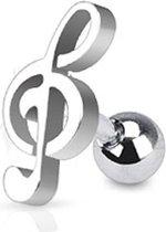 Afbeelding van Helix piercing muzieknoot