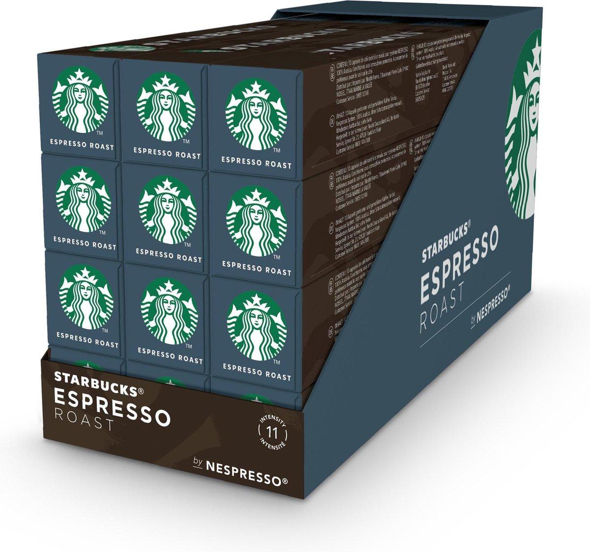 Starbucks by Nespresso capsules Espresso Dark Roast - 12 doosjes à 10 koffiecups