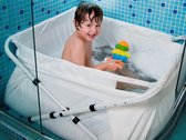 BiBaBad verstelbaar wit 70-90 cm met speelgoednet