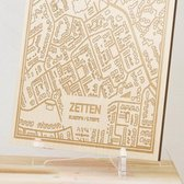 Kaart Zetten -  Gegraveerde stadskaart Hood&Wood - Hout, A4