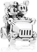 Zilveren Bedels Disney | Bedel Mickey en Minnie | In de Auto | 925 Sterling Zilver | Bedels Charms Beads | Past altijd op je Pandora armband | Direct snel leverbaar | Miss Charming