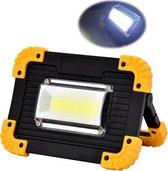 Bright Light Led werklamp - bouwlamp  incl. 2 oplaadbare Li-ion Accu's - powerbank