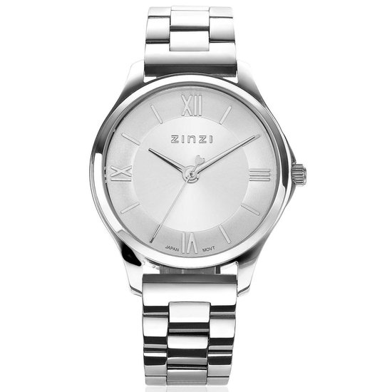 ZINZI Classy Mini ZIW1202 30mm zilverkleurig + gratis Zinzi armbandje