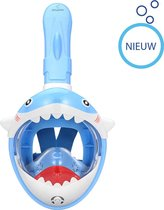 Atlantis Full Face Mask Kids Shark - Snorkelmasker - Kids - Blauw