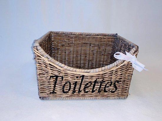 Bol Com Rieten Toilet Mand Wc Mand Toilet Mand Riet Rattan Opberg Toilettes