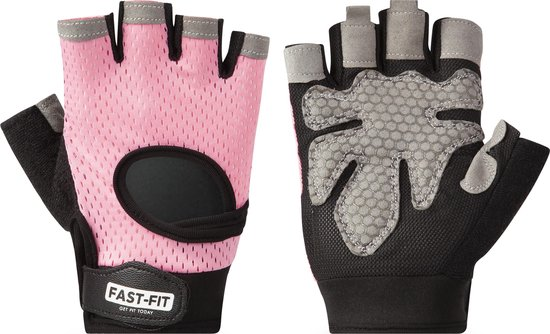 NINN Sports Lady gloves M (Roze) - Dames fitness handschoenen - Sport handschoenen dames - Grip Gloves - Fitnesshandschoenen Vrouwen