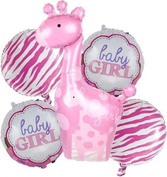 Baby Girl Set Ballonnen - 5 stuks - Babyshower - Kraamfeest - Geboorte - Zwanger