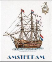 Thea Gouverneur Borduurpakket 2020A Sail Amsterdam 1990 - Aida stof 100% katoen
