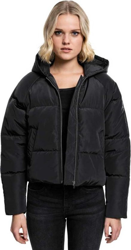 Urban Classics Winterjas L Hooded Oversized Puffer Zwart