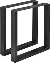 Stalen onderstel set van 2 U tafelpoot 60x72 cm zwart