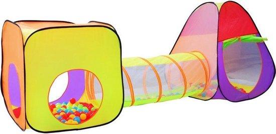 XXL Speeltent Speeltunnel Voor Kinderen - Kruiptunnel - Speelgoed Speelhuis Met Tunnel - Kindertent Met 200 Ballen Ballenbak