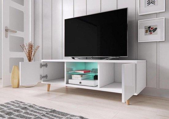 Hoogglans Tv Meubel.Bol Com Tv Meubel Hoogglans Wit Grijs Scandinavisch Design