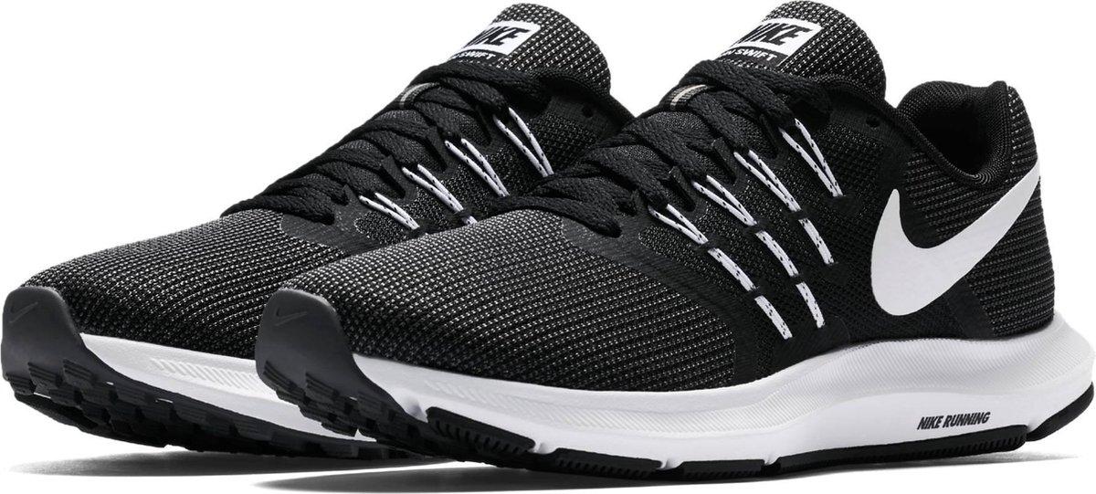 Nike Run Swift Hardloopschoenen Dames - Black/White-Dk Grey - Nike