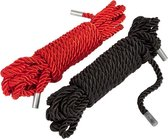 Fifty Shades Restrain Me Bondage Rope Twin Pack - Zwart/ Zilver