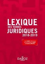 Lexique des termes juridiques 2018-2019
