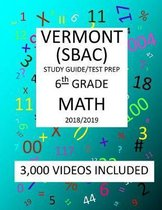 6th Grade VERMONT SBAC, 2019 MATH, Test Prep