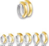 Huiscollectie 4203013 Bicolor gouden creolen vlak