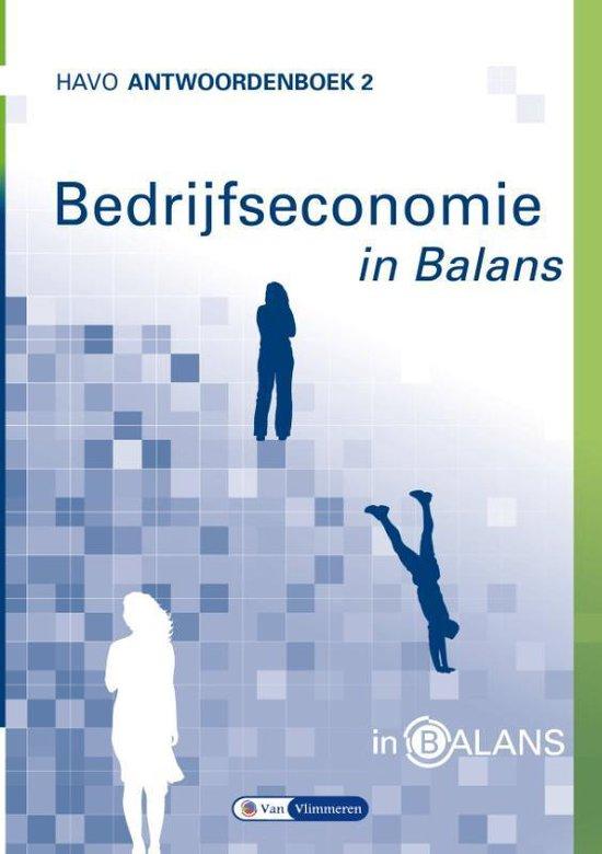 Bedrijfseconomie in Balans 2 havo antwoordenboek - Sarina van Vlimmeren |