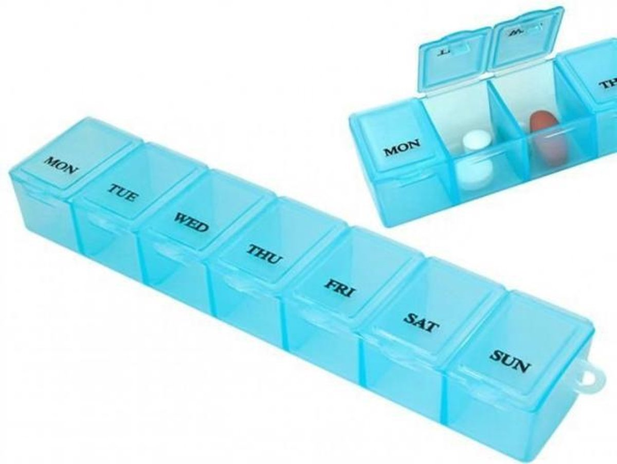 Pillendoos 7 dagen - 7 vakjes - Doos met medicijnen - Pillen planner - Medicijndoos - Dagen