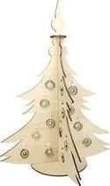 Bouwpakket Kerstboom Decoratief- hout