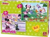 Disney 2 in 1 Puzzel - 24 en 50 stukjes Minnie Mouse - King - Kinderpuzzel