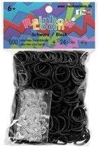 Rainbow Loom Elastiekjes - Zwarte Bandjes - 600 stuks