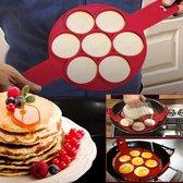 Pannenkoeken maker – Siliconen bakvorm – Pannenkoek vorm - Rood