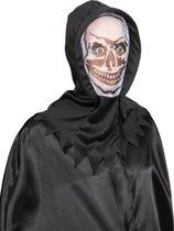 Wit horror masker met skelet gezicht