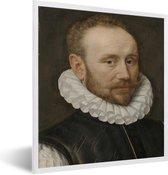 Foto in lijst - Portret van een man - Schilderij van Adriaen Thomasz fotolijst wit 40x50 cm - Poster in lijst (Wanddecoratie woonkamer / slaapkamer)