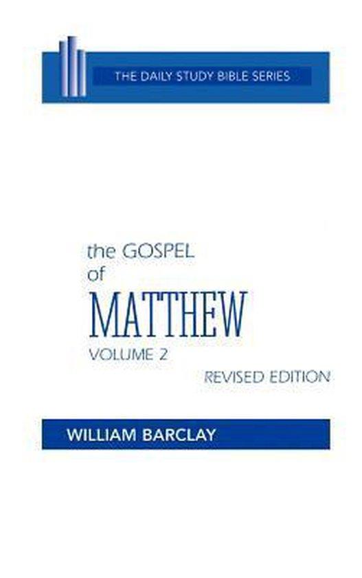 Boek cover New Testament the Gospel of Matthew van William Barclay (Hardcover)