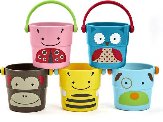 Afbeelding van Skip Hop Zoo Stapelemmertjes Zoo Stack & Pour Buckets speelgoed