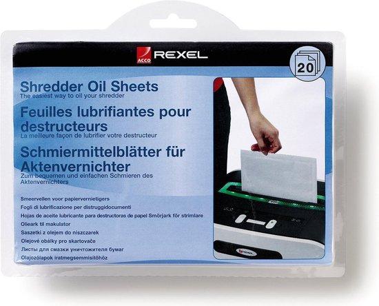 Rexel Papiervernietiger Olie Sheets- 20 Stuks